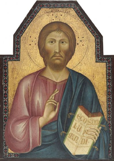 Tancredi, Grifo di: Christ Blessing. Fine Art Print/Poster. Sizes: A4/A3/A2/A1 (004163)